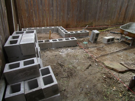 cinder blocks raised beds