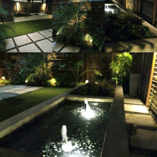 outdoor lighting collage