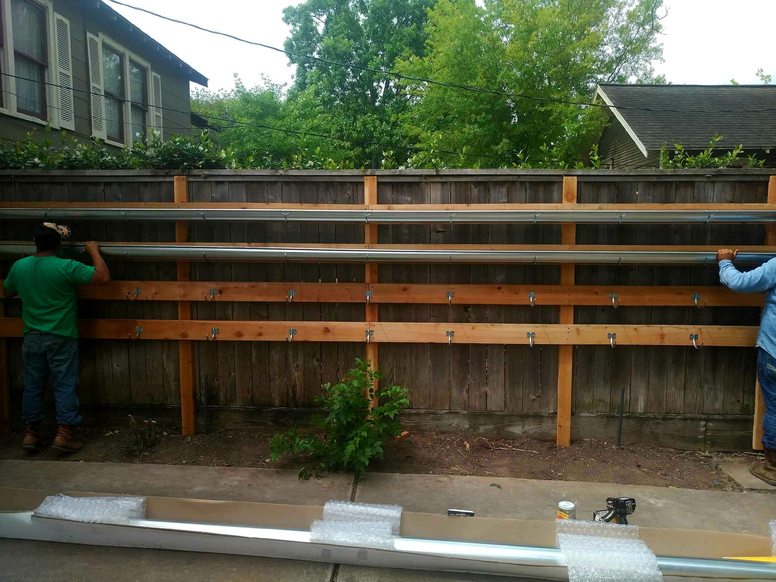 How to Build a Vertical Garden with Rain Gutters | Ravenscourt Gardens