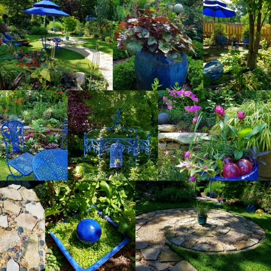 Cobalt blue and Fuschia in the garden of Linda Hostetler
